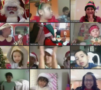 Santa Starts Using Zoom to Visit the Children of Central Texas